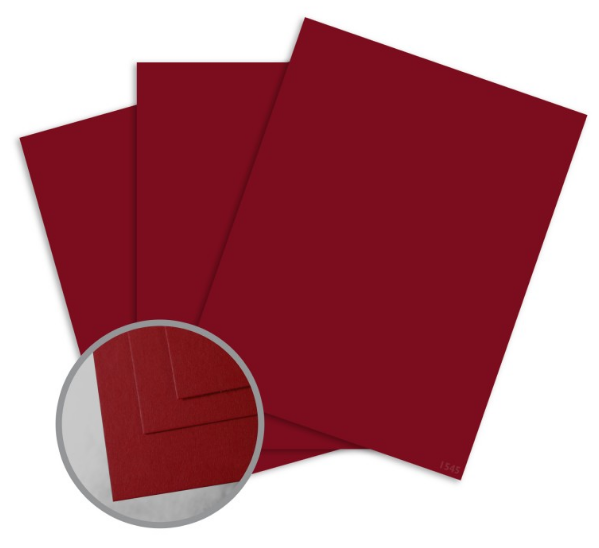 ColorMates Deep Berry Red Card Stock - 8 1/2 x 11 in 65 lb Cover Smooth 25 per Package