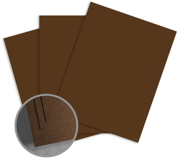 ColorMates Deep Creamy Cocoa Card Stock - 8 1/2 x 11 in 65 lb Cover Smooth 25 per Package