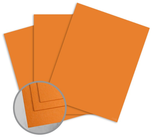 ColorMates Deep Orange Dream Card Stock - 8 1/2 x 11 in 65 lb Cover Smooth 25 per Package
