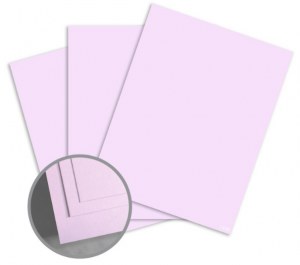 ColorMates Smooth & Silky Lilac Card Stock - 8 1/2 x 11 in 90 lb Cover Smooth 25 per Package