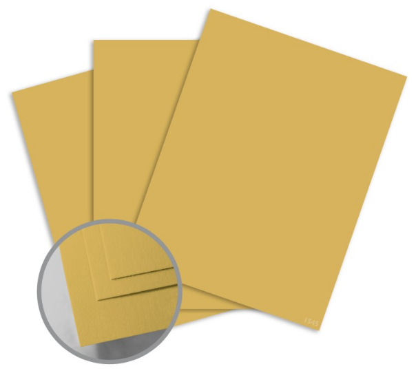 ColorMates Smooth & Silky Mustard Card Stock - 12 x 12 in 90 lb Cover Smooth 25 per Package