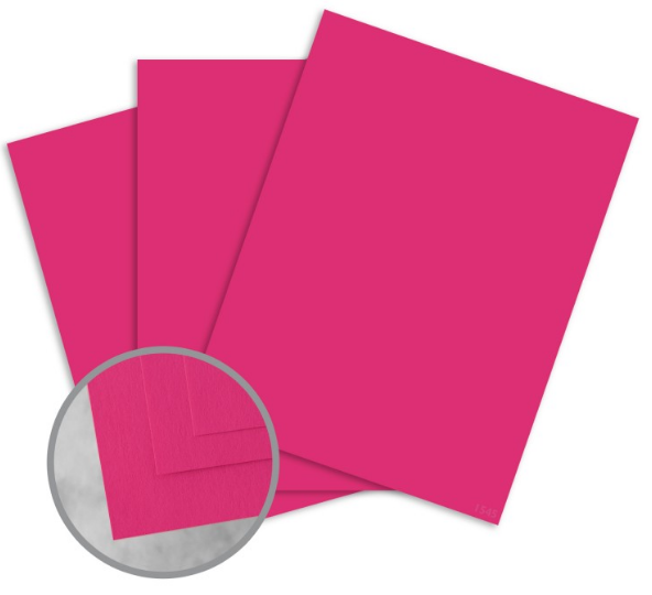 Curious Skin Pink Card Stock - 8 1/2 x 11 in 100 lb Cover Skin 100 per Package