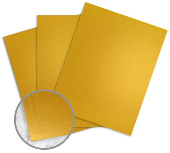 Currency Gold Paper - 8 1/2 x 11 in 10 pt Cover Smooth C/1S 10% Recycled 150 per Package