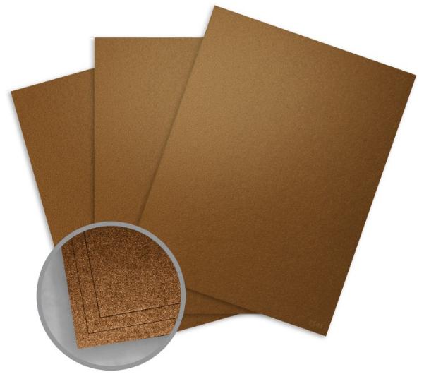 Elan Metallics Bronze Paper - 8 1/2 x 11 in 80 lb Text Metallic C/2S 25 per Package