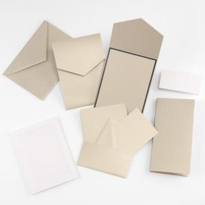 Fine Impressions Gold Shimmer Pocket Invitation Ensemble