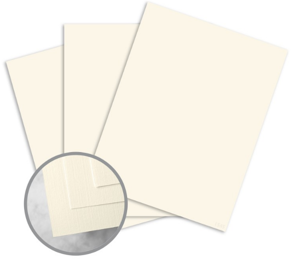 HOWARD Linen Warm White Paper - 8 1/2 x 11 in 24 lb Writing Linen 30% Recycled Watermarked 500 per Ream