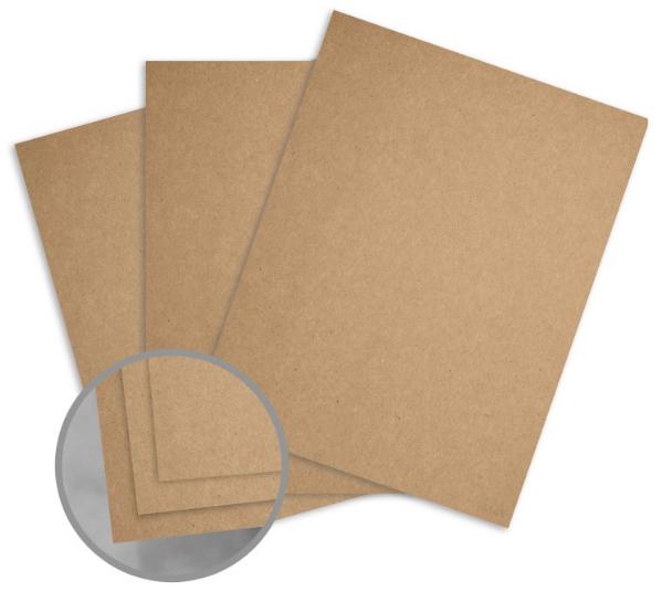 Kraft Brown/Brown Paper - 8 1/2 x 11 in 68 lb Text Fiber 250 per Package