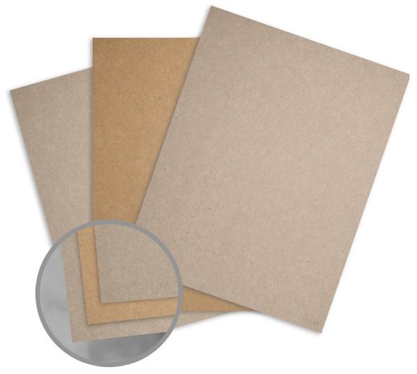 Kraft Brown/Grey Paper - 8 1/2 x 11 in 108 lb Text Fiber 25 per Package
