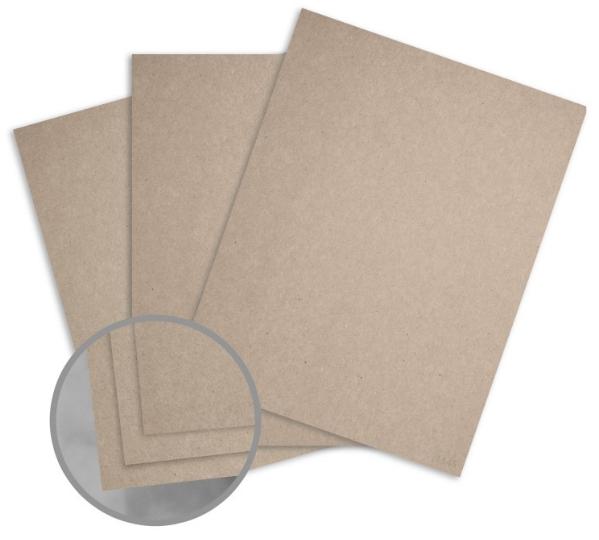 Kraft Grey/Grey Paper - 8 1/2 x 11 in 95 lb Text Fiber 250 per Package