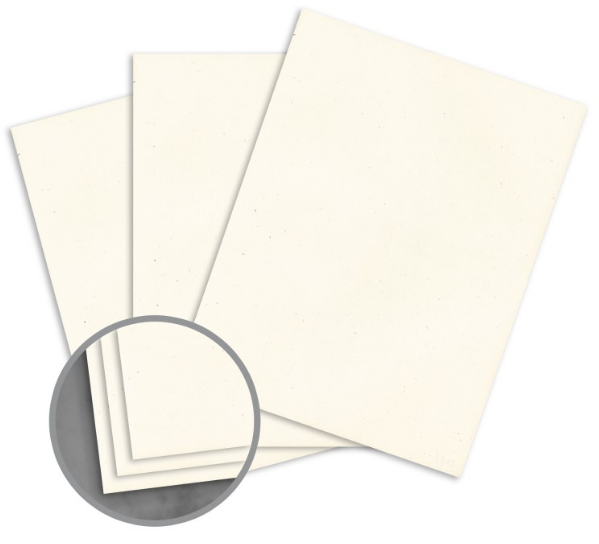 Loop Smooth Milkweed Paper - 8 1/2 x 11 in 24 lb Writing Smooth 100% Recycled 500 per Ream