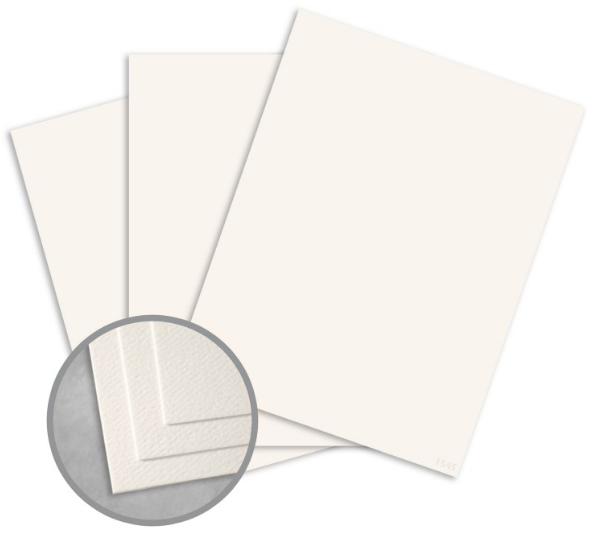 Royal Sundance Warm White Card Stock - 8 1/2 x 11 in 80 lb Cover Felt 30% Recycled 250 per Package