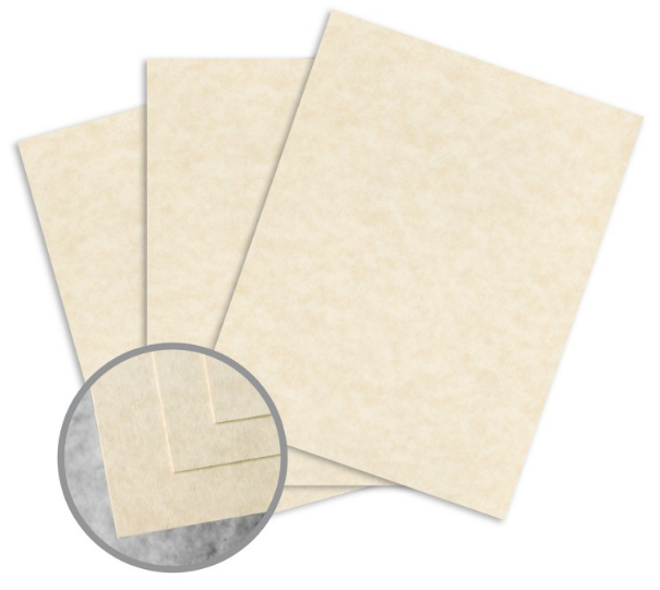 Skytone Natural Card Stock - 8 1/2 x 11 in 65 lb Cover Vellum 30% Recycled 250 per Package