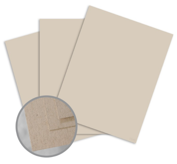 Via Vellum Kraft Card Stock - 8 1/2 x 11 in 80 lb Cover Vellum 30% Recycled 250 per Package