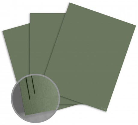 ColorMates Smooth & Silky Military Green Card Stock - 8 1/2 x 11 in 80 lb Cover Smooth 25 per Package