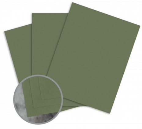 Manila File Green Card Stock - 8 1/2 x 11 in 80 lb Cover Extra Smooth 25 per Package