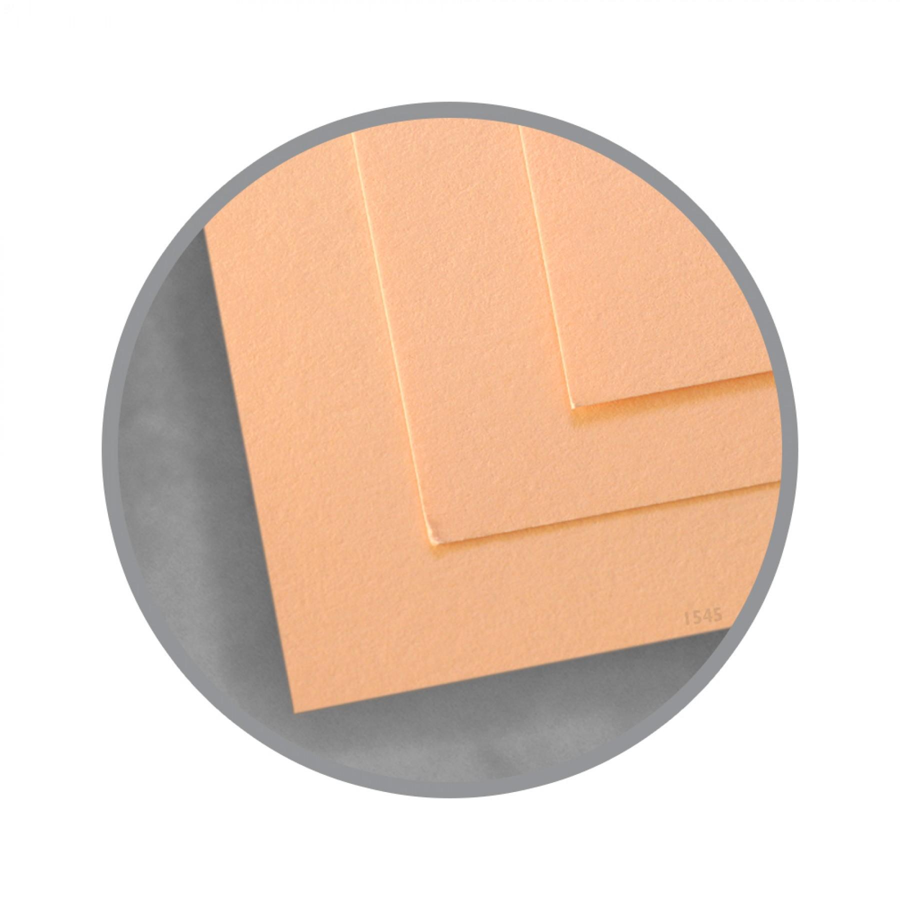 Exact Vellum Bristol Peach Paper - 8 1/2 x 11 in 67 lb Bristol Vellum 250 per Package