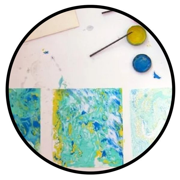 oil paint marbling rookie mag
