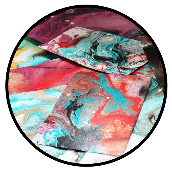 spray paint marbling alisa burke