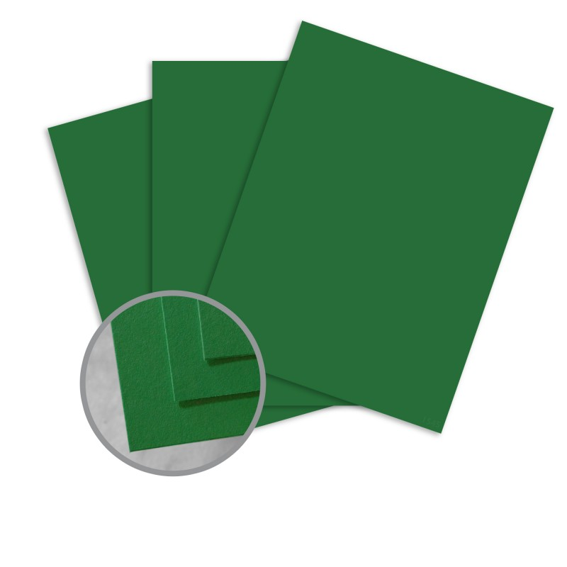 BriteHue Green Card Stock - 8 1/2 x 11 in 65 lb Cover Semi-Vellum 30% Recycled 250 per Package