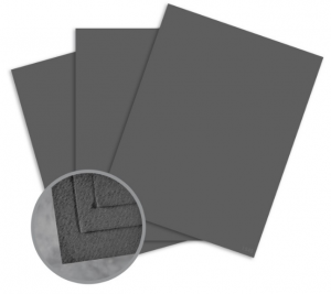 Cascata Dark Grey Card Stock - 12 x 12 in 80 lb Cover Felt 25 per Package
