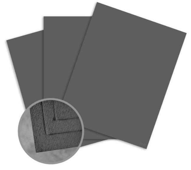 Cascata Dark Grey Card Stock - 12 x 12 in 80 lb Cover Felt 25 per Package