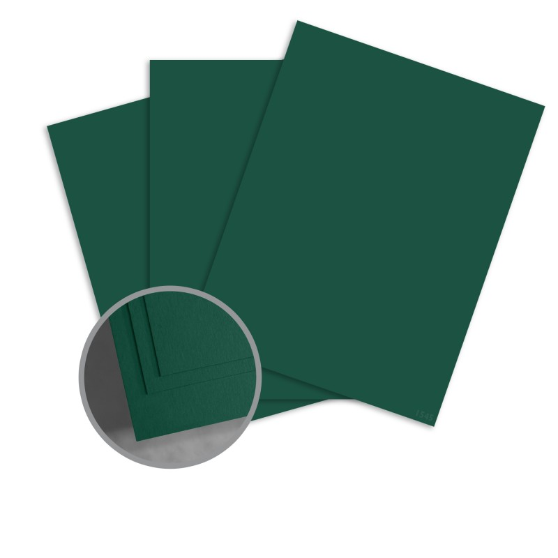 ColorMates Smooth & Silky Forest Green Card Stock - 8 1/2 x 11 in 80 lb Cover Smooth 25 per Package