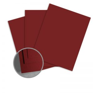 ColorMates Smooth & Silky Maroon Card Stock - 8 1/2 x 11 in 80 lb Cover Smooth 25 per Package