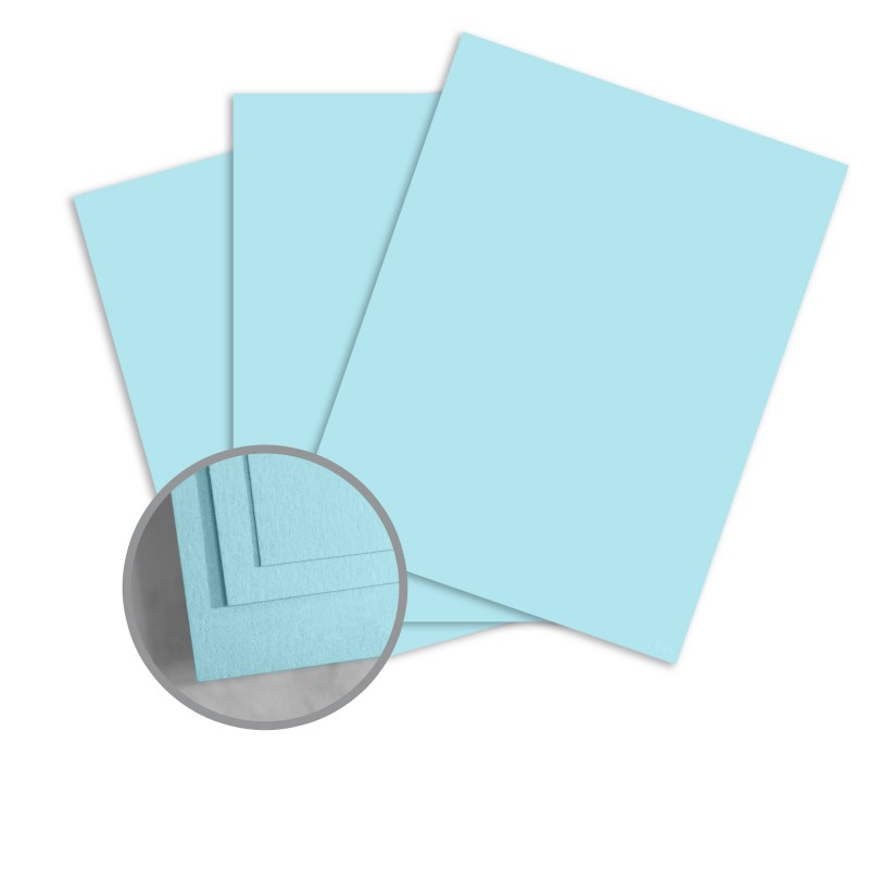 ColorMates Smooth & Silky Sky Blue Card Stock - 8 1/2 x 11 in 90 lb Cover Smooth 25 per Package