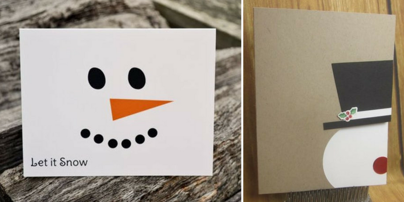 Diy Holiday Cards 1 Snowmen The Paper