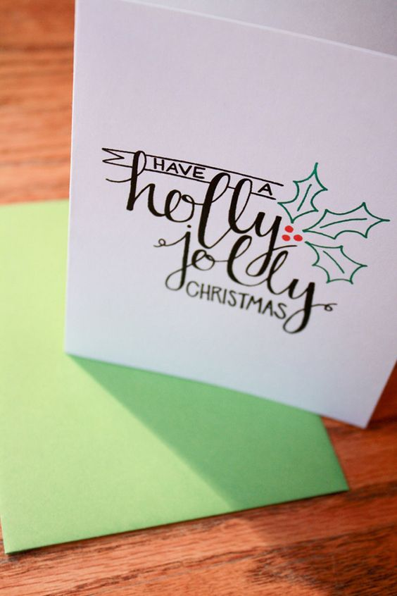 Diy Holiday Cards 12 Calligraphy The Paper