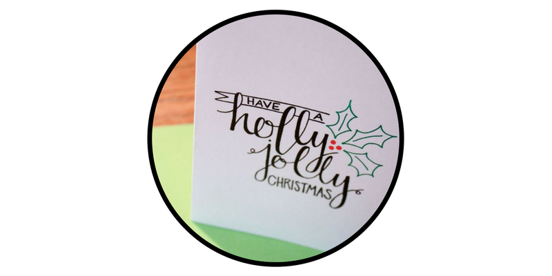 diy holiday cards calligraphy