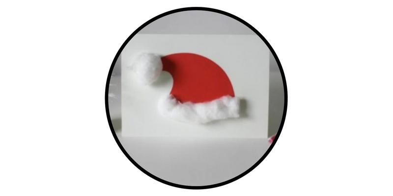 diy holiday cards santa hat
