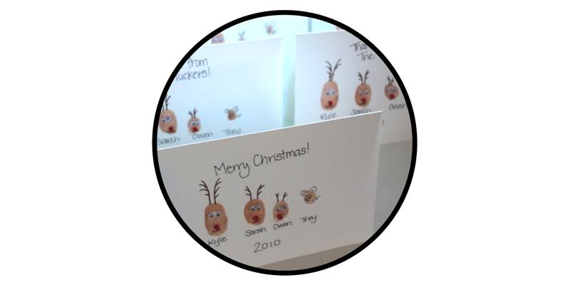 diy holiday cards thumbprint reindeer