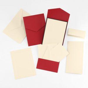 Fine Impressions Claret Smooth Vellum Pocket Invitation Ensemble