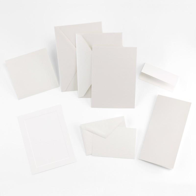 Fine Impressions Jumbo Flat White Shimmer Invitation Ensemble
