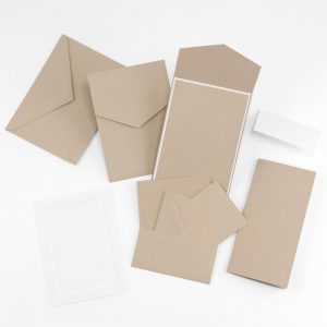 Fine Impressions Kraft Smooth Vellum Pocket Invitation Ensemble