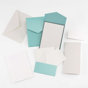 Fine Impressions Teal Shimmer Pocket Invitation Ensemble