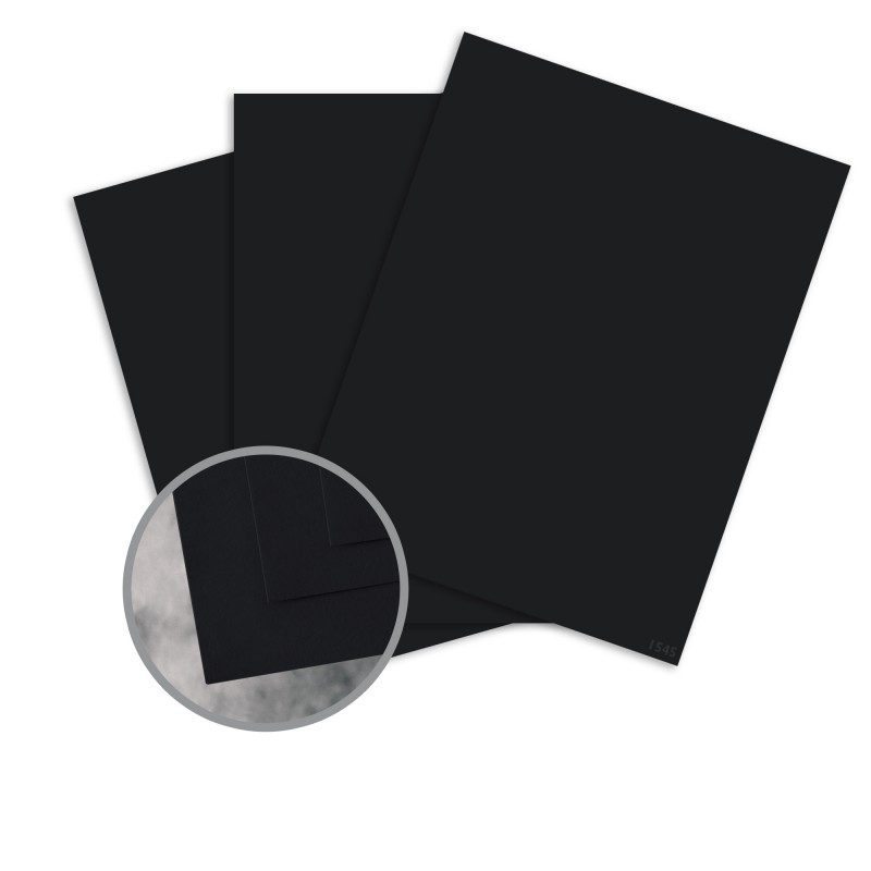 Flavours Gourmet Black Truffle Card Stock - 8 1/2 x 11 in 12 pt Cover Smooth 25 per Package