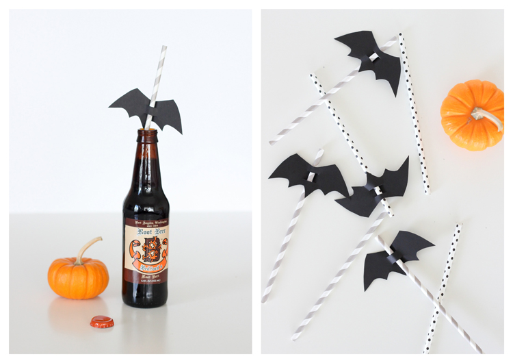 halloween paper crafts straw toppers delia creates