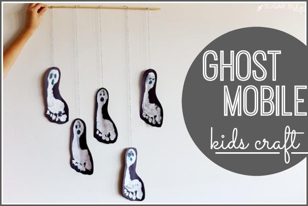 halloween paper crafts ghost mobile kids sugar bee crafts