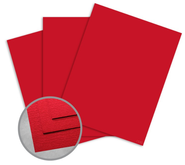 Treasures Heartbeat Red Card Stock - 12 x 12 in 80 lb Cover Textured 250 per Package
