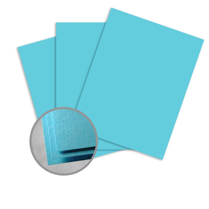 Astrobrights Lunar Blue Card Stock - 8 1/2 x 11 in 65 lb Cover Smooth 30% Recycled 250 per Package