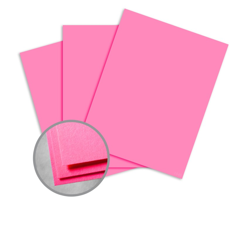Astrobrights Pulsar Pink Paper - 8 1/2 x 11 in 60 lb Text Smooth 500 per Ream