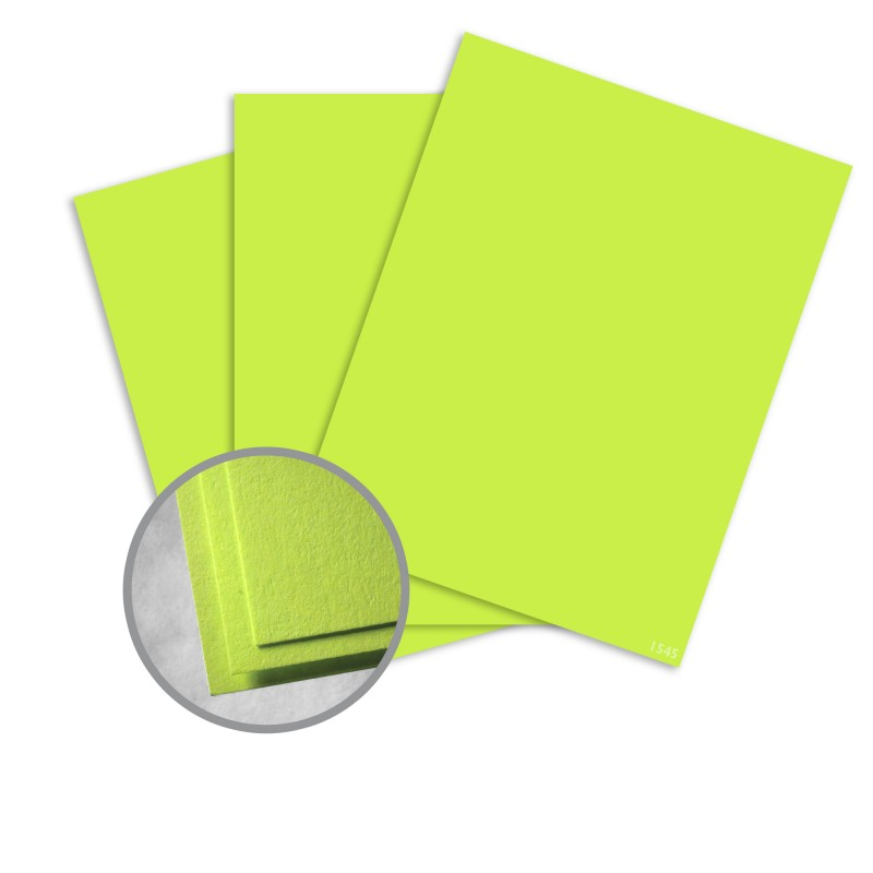 Astrobrights Vulcan Green Card Stock - 8 1/2 x 11 in 65 lb Cover Smooth 250 per Package