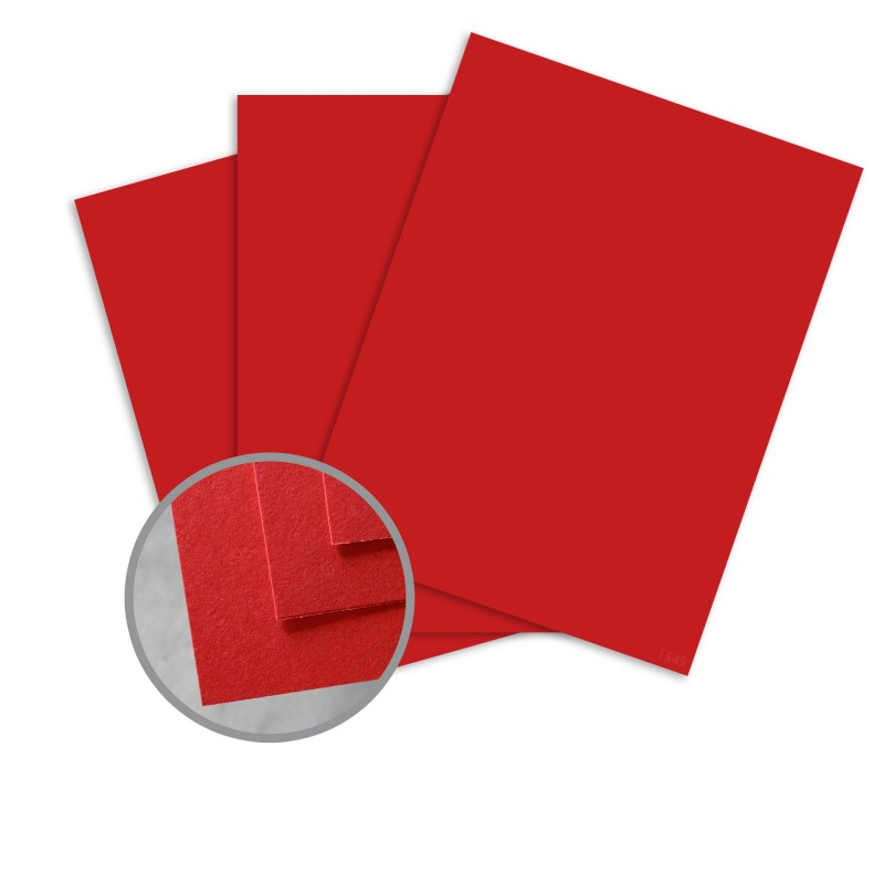 BriteHue Red Paper - 8 1/2 x 11 in 60 lb Text Semi-Vellum 30% Recycled 500 per Ream
