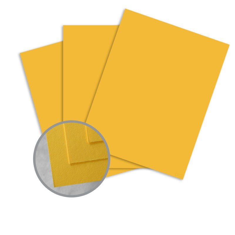 BriteHue Yellow Card Stock - 8 1/2 x 11 in 65 lb Cover Semi-Vellum 30% Recycled 250 per Package