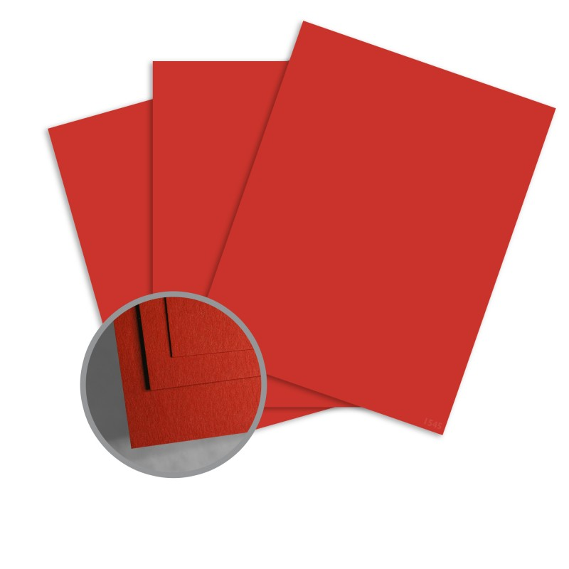 ColorMates Smooth & Silky Cardinal Red Card Stock - 12 x 12 in 80 lb Cover Smooth 25 per Package