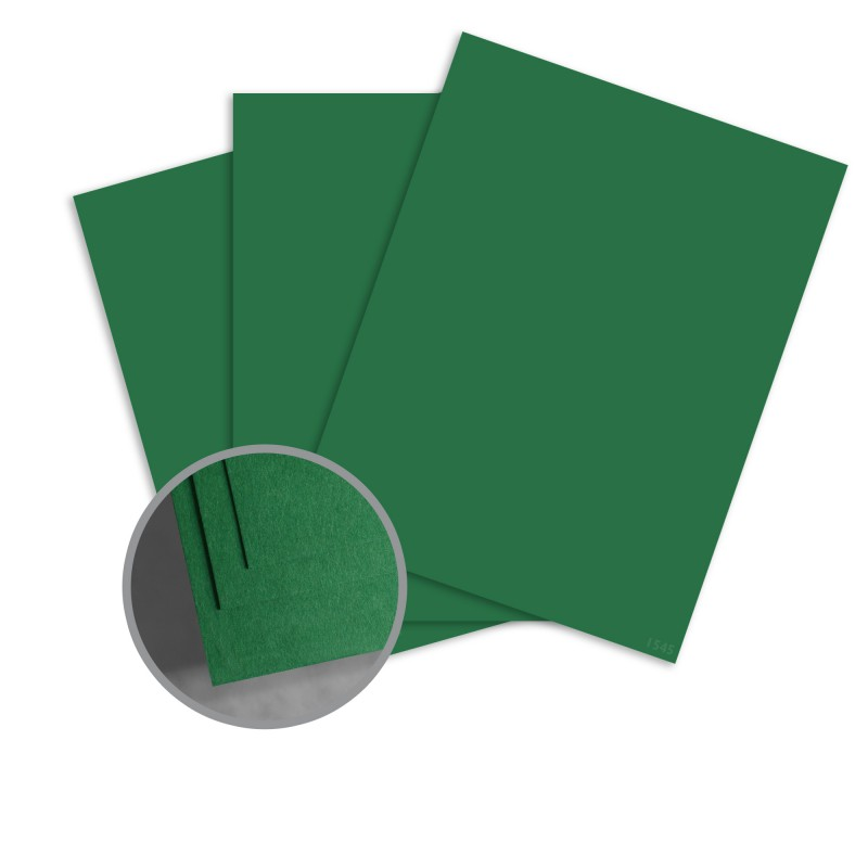 ColorMates Deep Emerald Isle Card Stock - 8 1/2 x 11 in 65 lb Cover Smooth 25 per Package