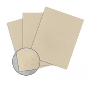 ColorMates Smooth & Silky Sandstorm Card Stock - 8 1/2 x 11 in 80 lb Cover Smooth 25 per Package
