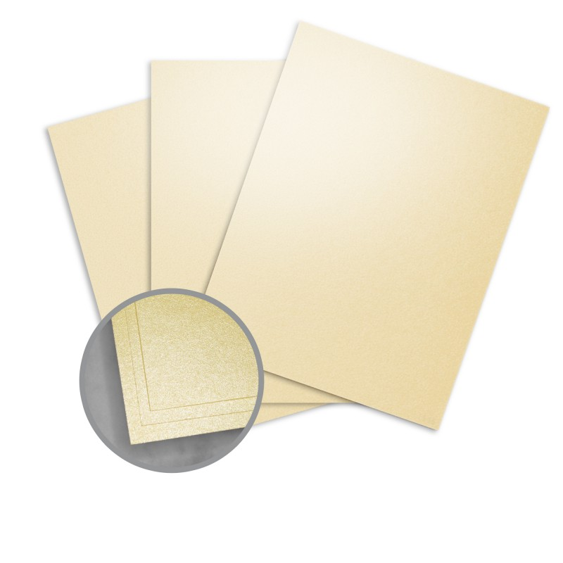 Elan Metallics Gold Paper - 8 1/2 x 11 in 80 lb Text Metallic C/2S 25 per Package